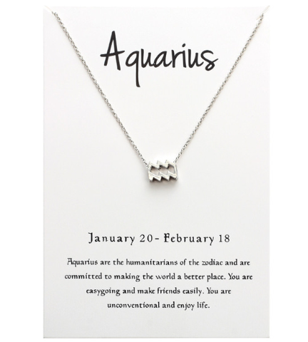 In Stock Necklace Aquarius The Zodiac Necklace The Omnia Design Company