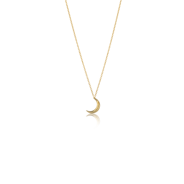 In Stock Necklace Crescent Moon Necklace Gold The Omnia Design Company