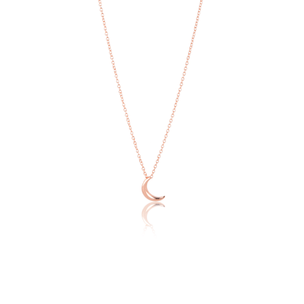 In Stock Necklace Crescent Moon Necklace Rose Gold The Omnia Design Company