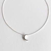 In Stock Necklace Crescent Moon Necklace Silver The Omnia Design Company