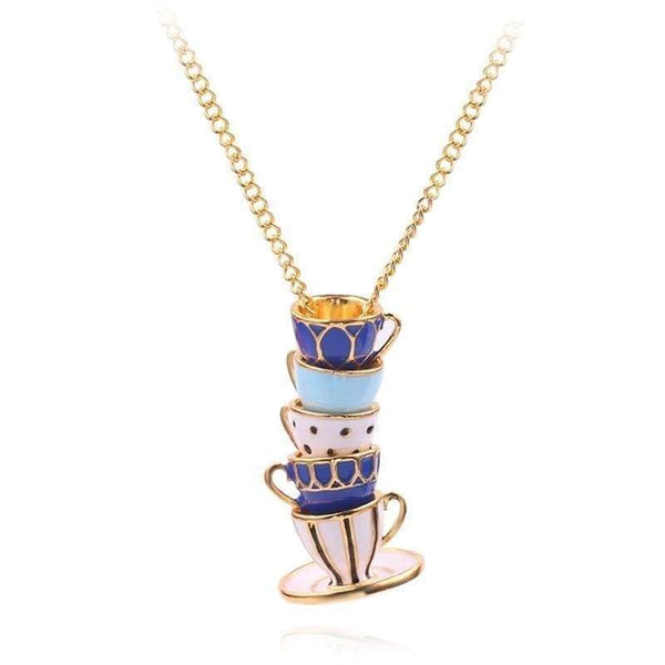 The Omnia Design Company Necklace Cups & Saucer Necklace