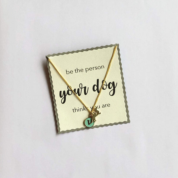 In Stock Necklace Dog Lovers Necklace - Sea Green