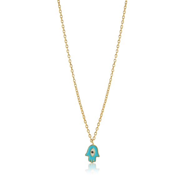 The Omnia Design Company Necklace Hamsa Hand Necklace The Omnia Design Company
