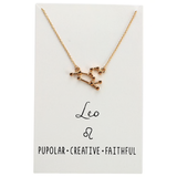 In Stock Necklace Leo The Constellation Necklace The Omnia Design Company