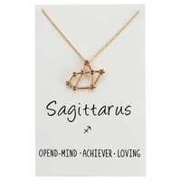 In Stock Necklace Sagittarius The Constellation Necklace The Omnia Design Company