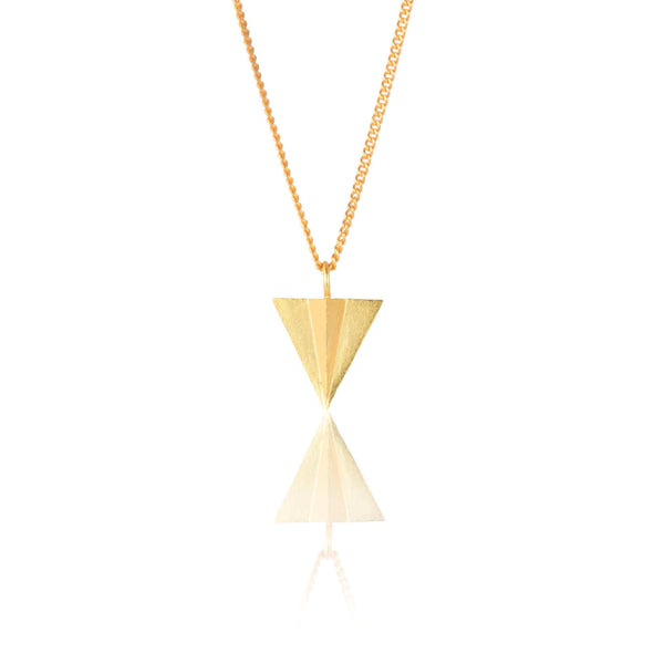 In Stock Necklace The Aeroplane Origami Necklace The Omnia Design Company