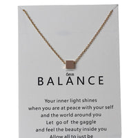 In Stock Necklace The Balance Necklace The Omnia Design Company