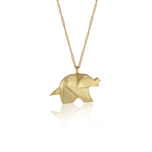 In Stock Necklace The Elephant Origami Necklace The Omnia Design Company