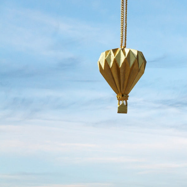 In Stock Necklace The Hot Air Balloon Origami Necklace The Omnia Design Company