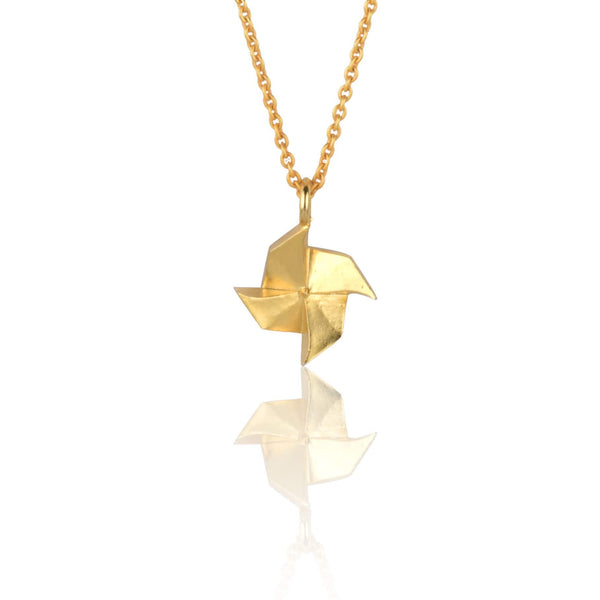 In Stock Necklace The Pin-Wheel Origami Necklace The Omnia Design Company