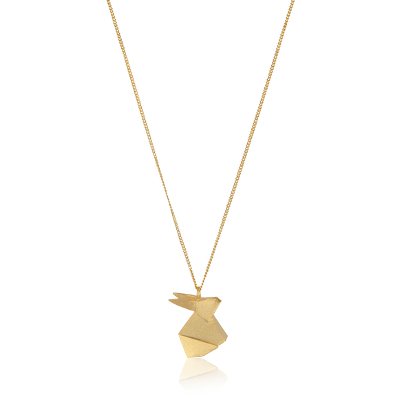 In Stock Necklace The Rabbit Origami Necklace The Omnia Design Company