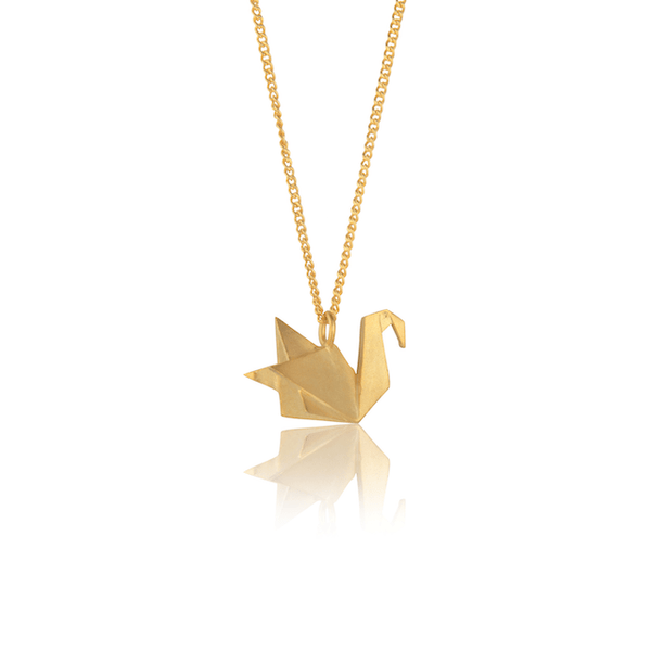 In Stock Necklace The Swan Origami Necklace