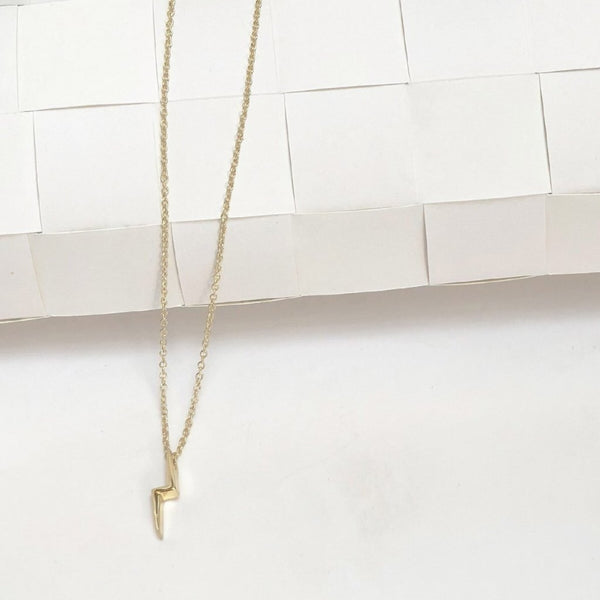 In Stock Necklace Thunderbolt Necklace The Omnia Design Company
