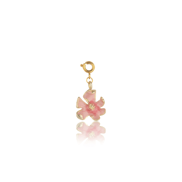 The Omnia Design Company Peach Pink Shaded Flower Charm