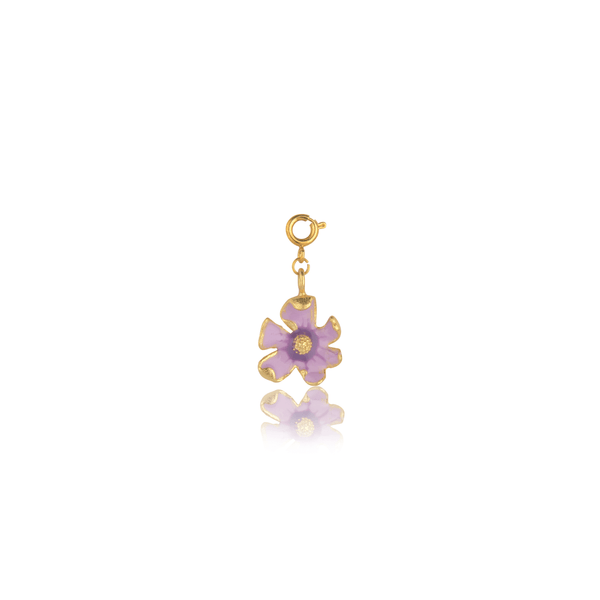 The Omnia Design Company Purple Shaded Flower Charm
