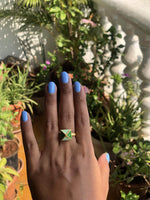 The Omnia Design Company Ring Pyramid Ring in Green The Omnia Design Company