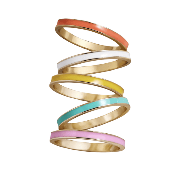 Ali Express Ring Stackable Enamel Rings