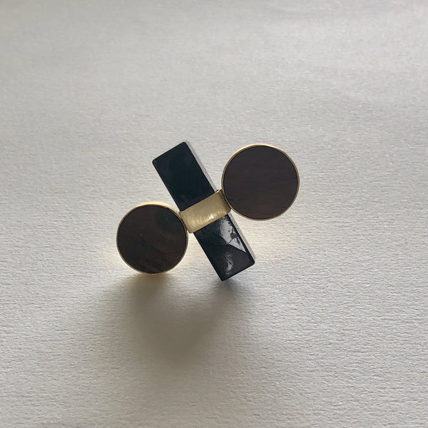 In Stock Ring The Black Wooden Ring The Omnia Design Company