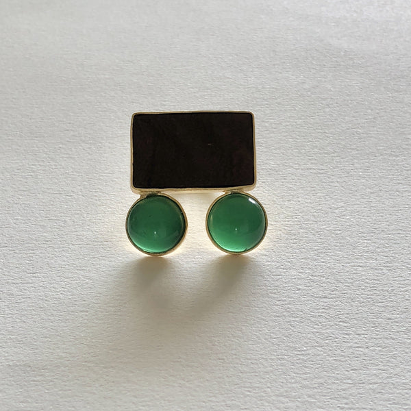 In Stock Ring The Car Green Wooden Ring The Omnia Design Company