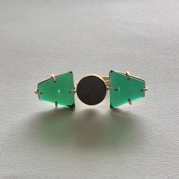 In Stock Ring The Green Wooden Ring The Omnia Design Company