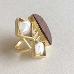 In Stock Ring Transparent The Grace Wooden Ring The Omnia Design Company