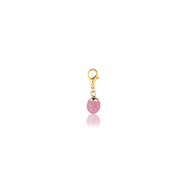 The Omnia Design Company Rose Stone Charm The Omnia Design Company
