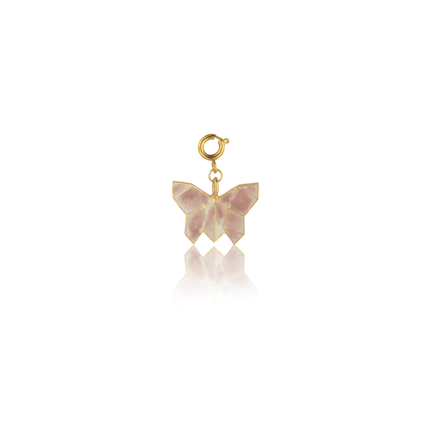 The Omnia Design Company White & Pink Butterfly Charm
