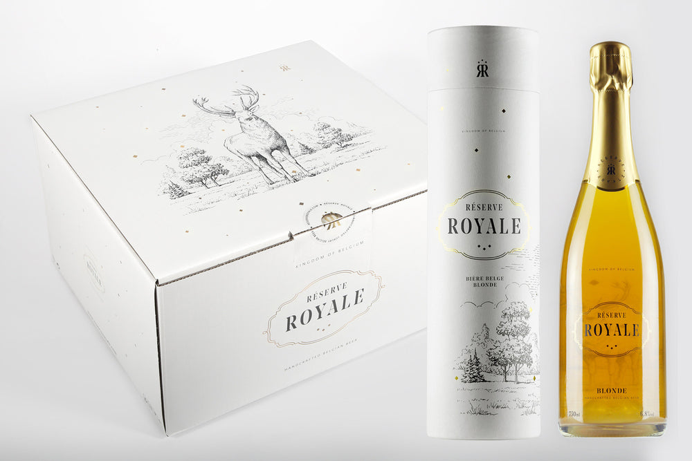 Réserve Royale Blonde 75cl in Gift-Tube x 6