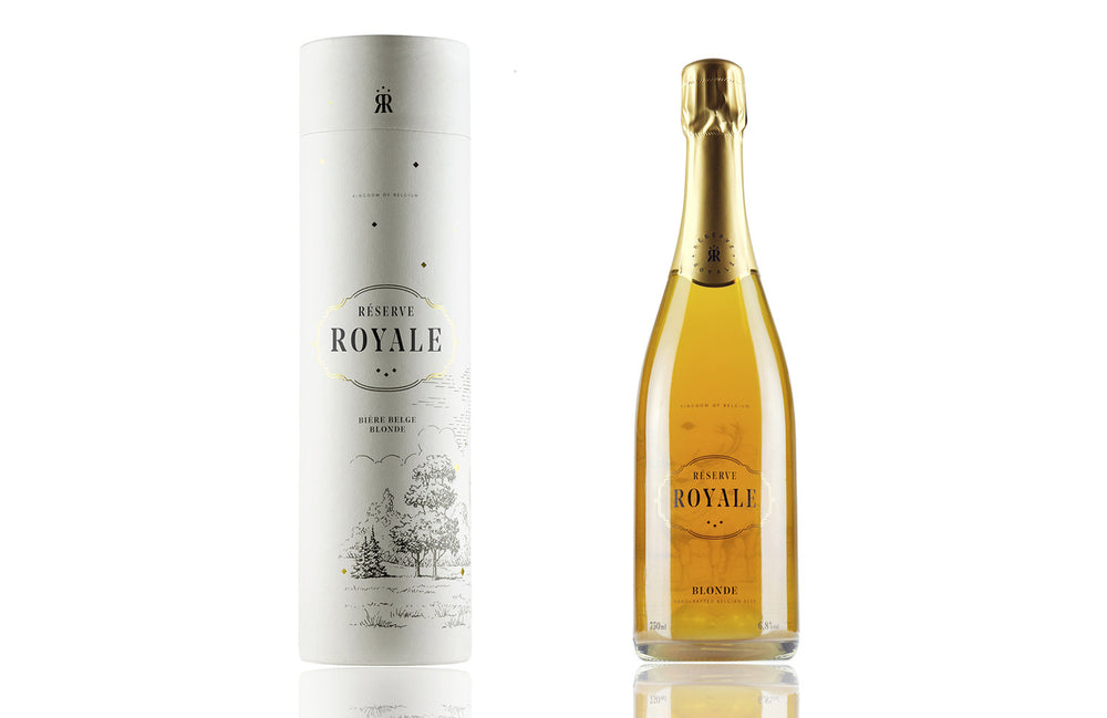 Load image into Gallery viewer, Réserve Royale Blonde 75cl in Gift-Tube