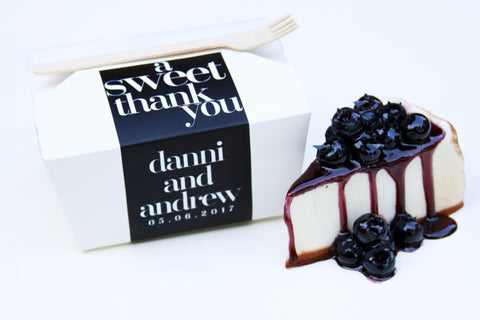 A SWEET THANK YOU FAVOR TO GO BOX