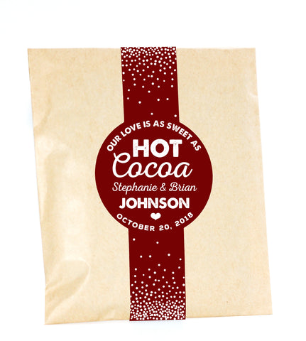 Cocoa Favor Bags Pack of 10 #CF-01