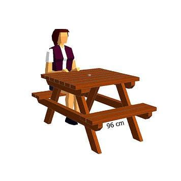 Table de camping 96 cm
