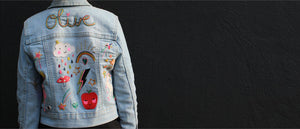 iron on patches on denim jacket