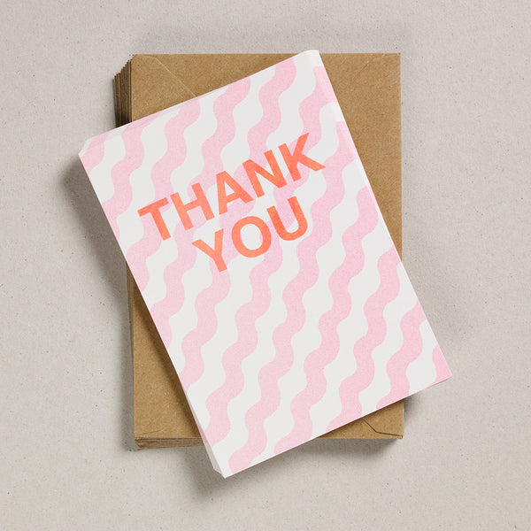A6 Thank You Cards - Pink Wiggles