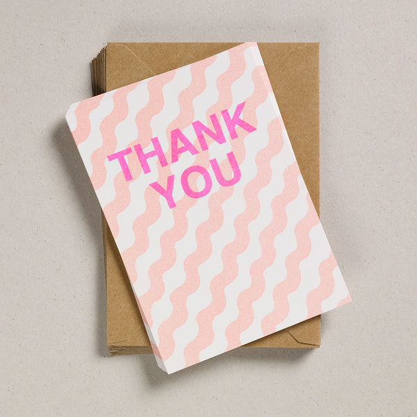 A6 Thank You Cards - Orange Wiggles