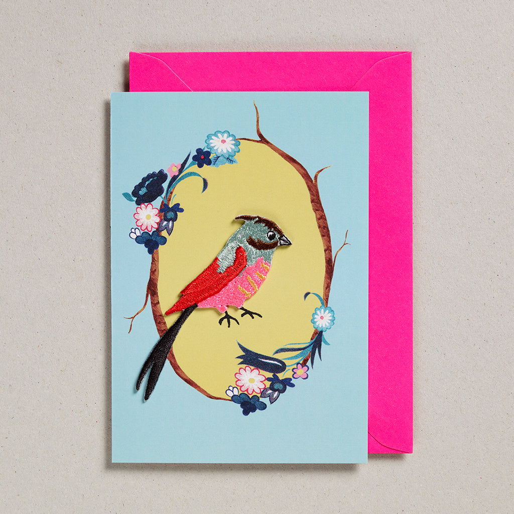 Iron on Patch Card - Bird 6