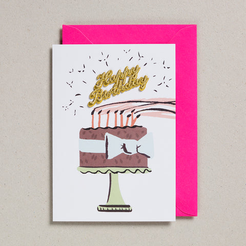 Cake Card - Happy Birthday