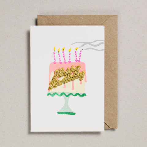 Cake Card - Happy Birthday - Birthday Cake