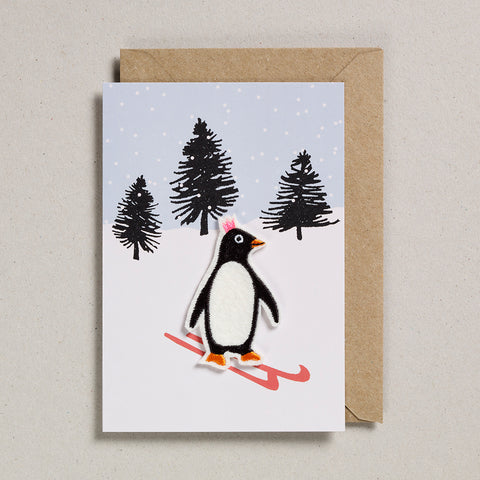 Felt Christmas - Penguin on skis