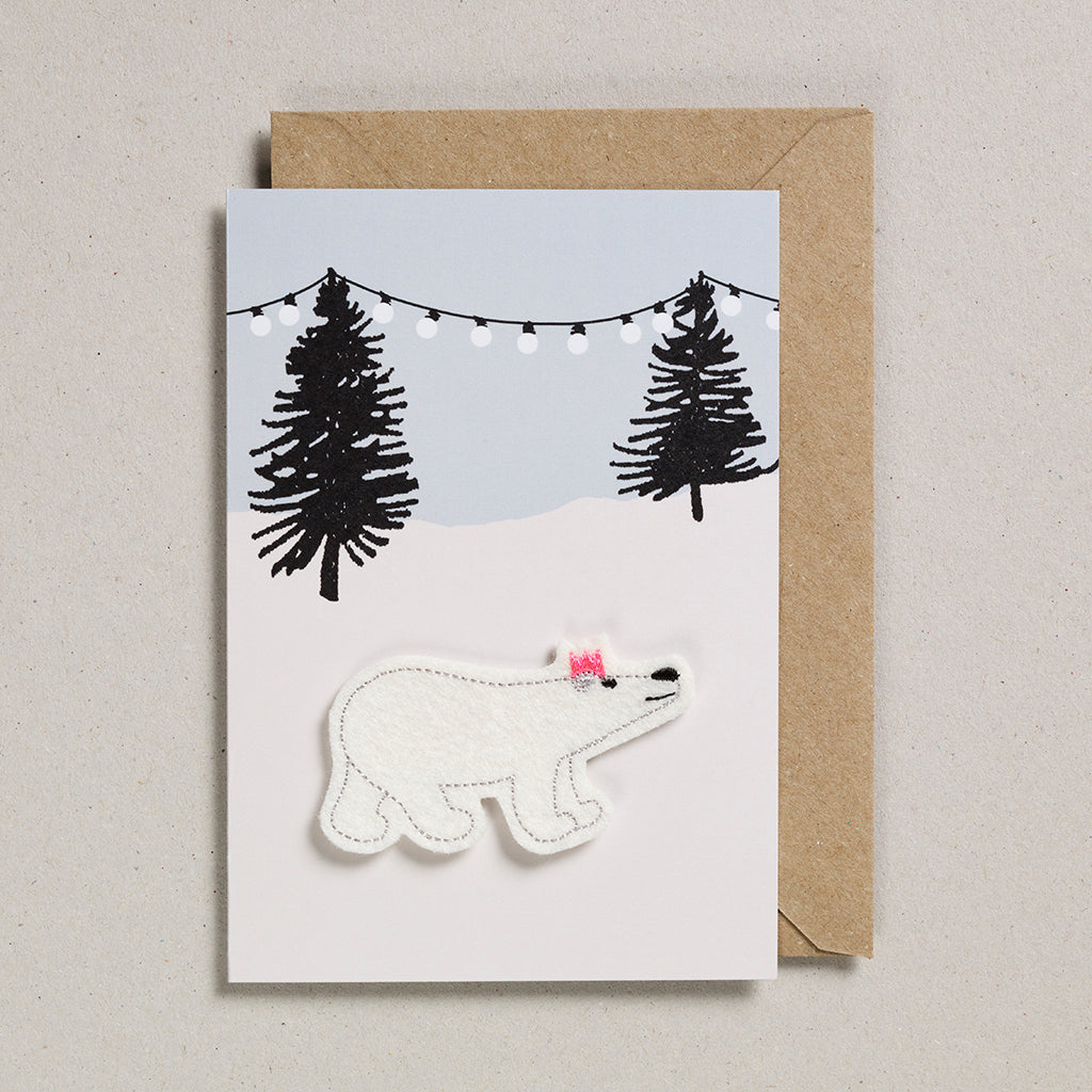 Felt Christmas - Polar Bear with Lights