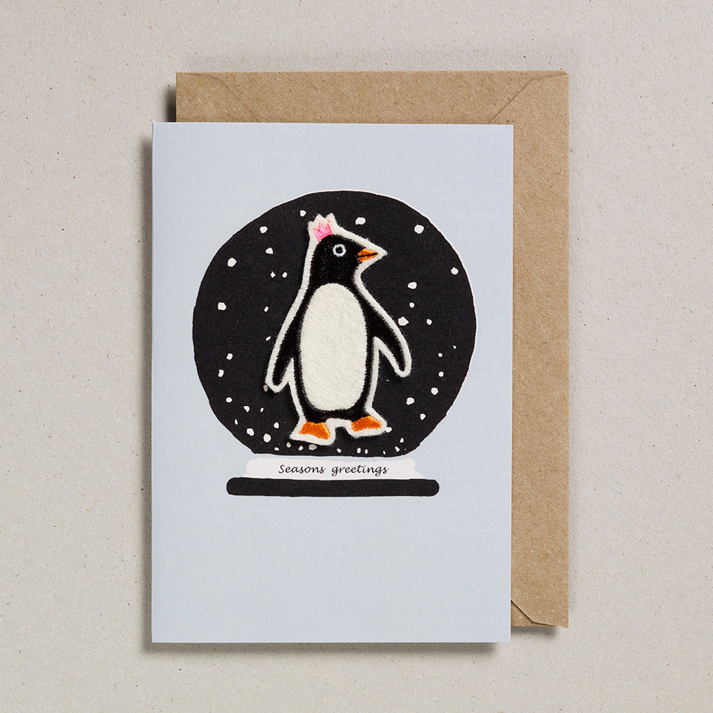 Felt Christmas - Penguin in Snowglobe