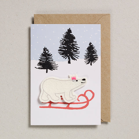 Felt Christmas - Polar Bear on Sledge