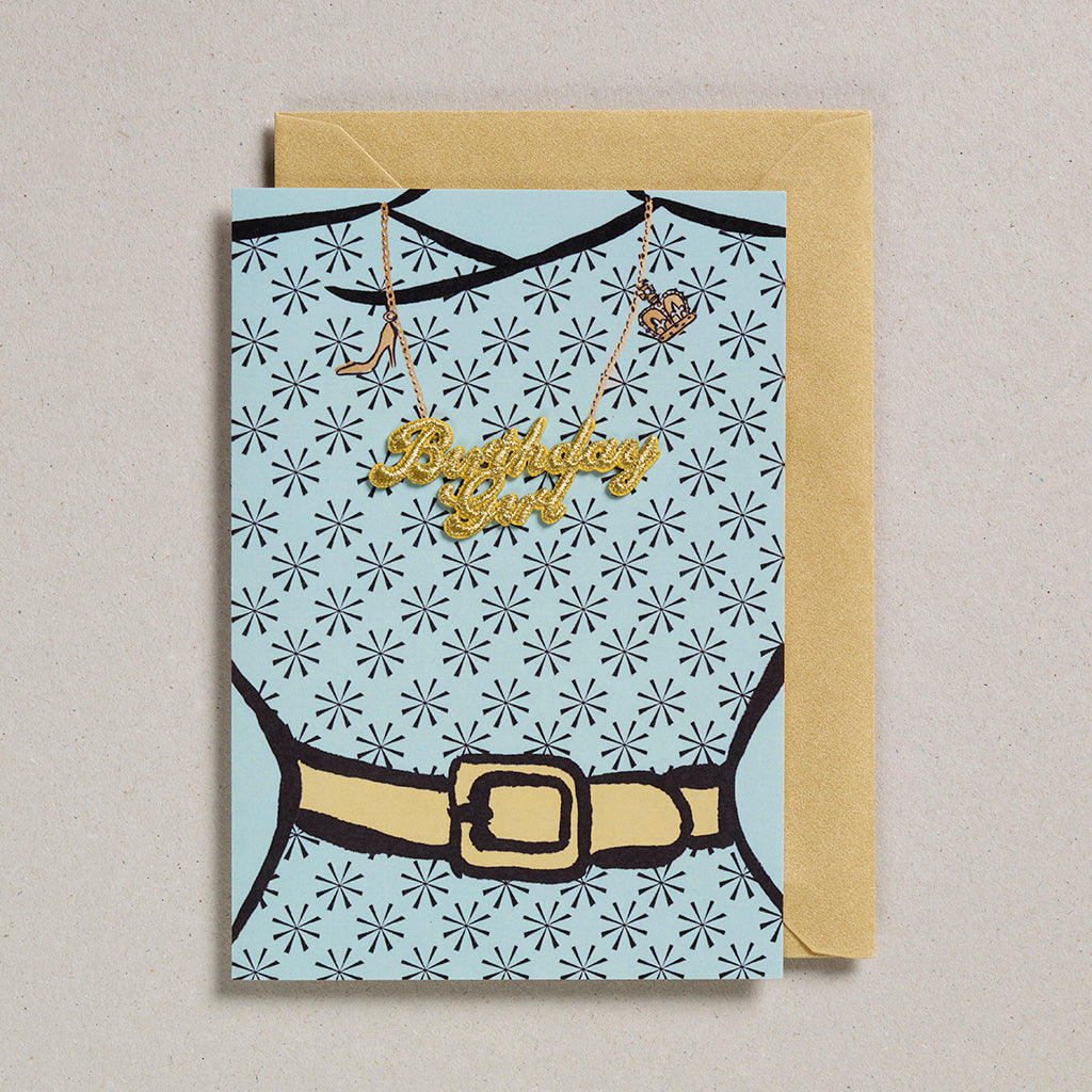 Embroidered Word Card - Birthday Girl (5)