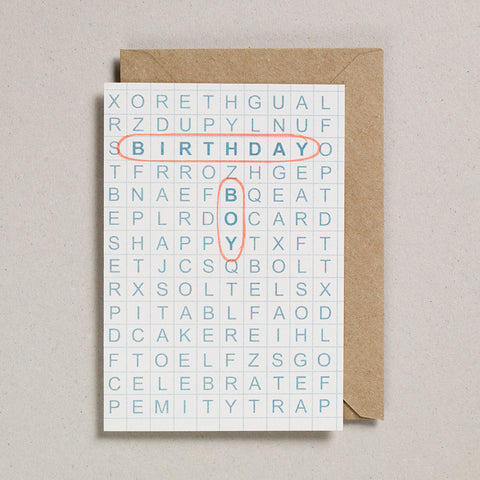 Grid Cards - Birthday Boy