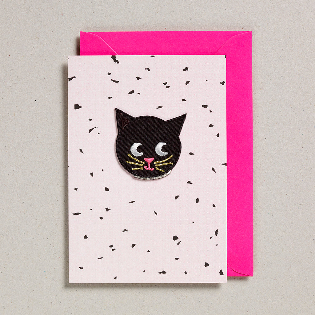 Iron on Patch Card - Cat