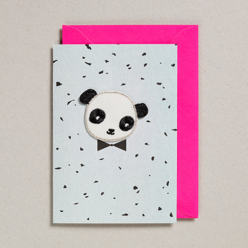 Iron on Patch Card - Panda