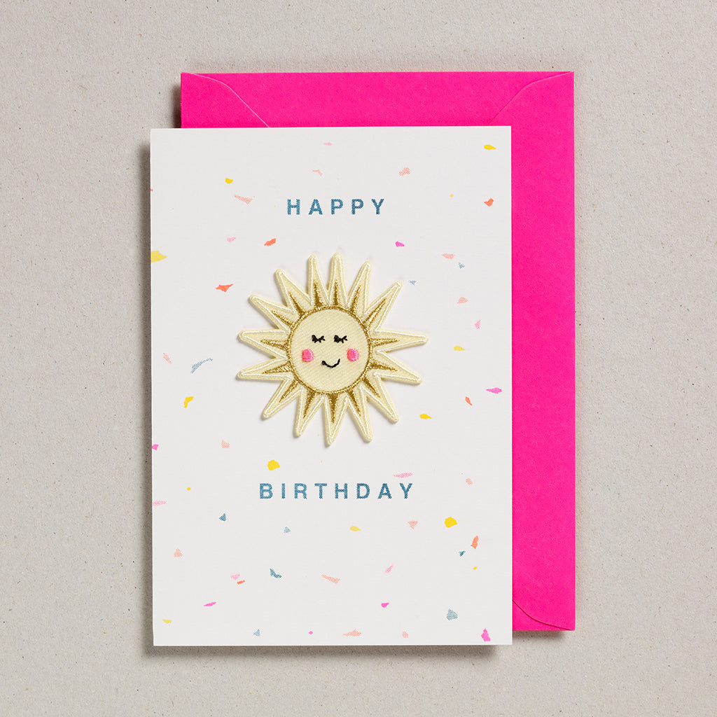 Iron on Patch Card - Happy Birthday Sunshine