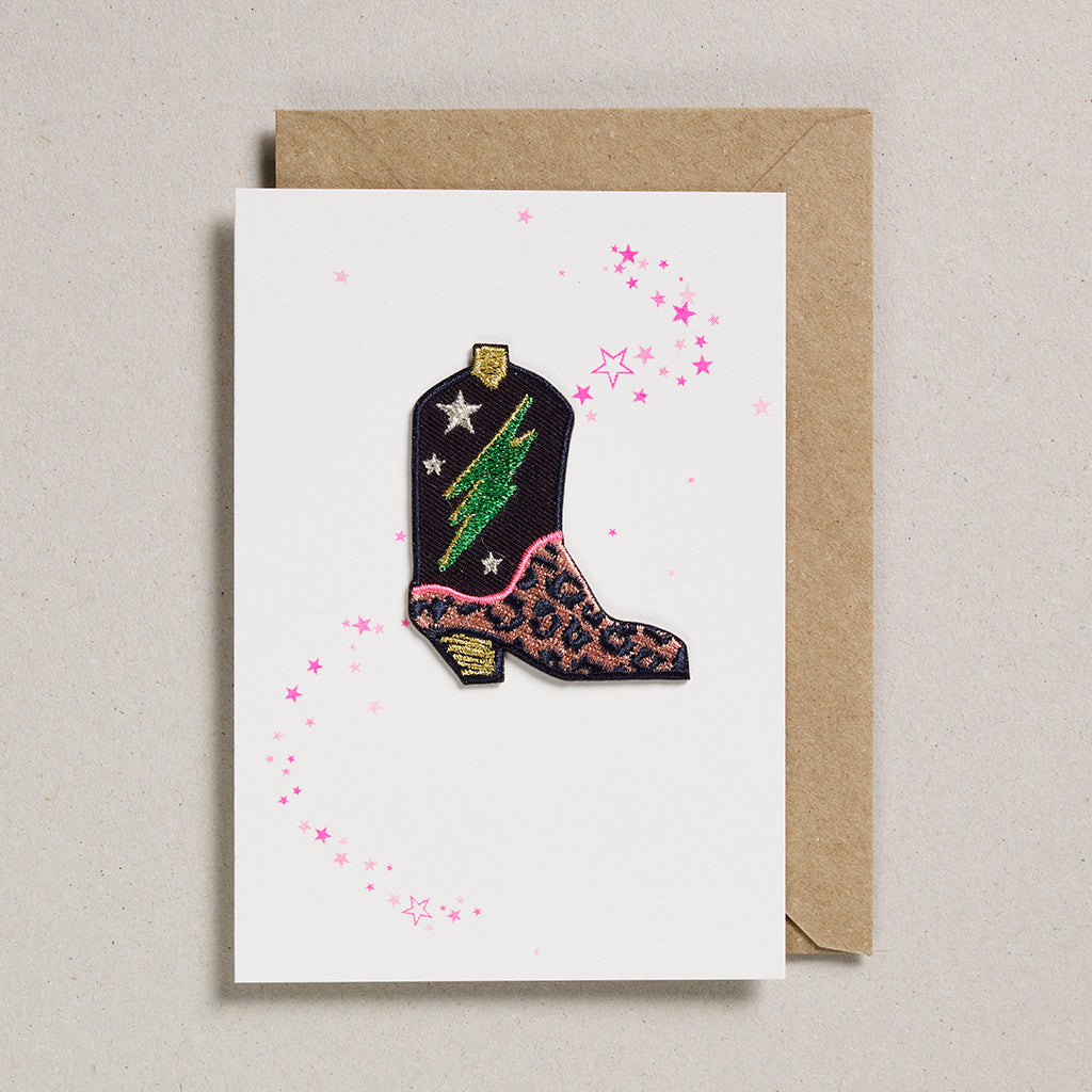 Iron on Patch Card - Cowboy Boot