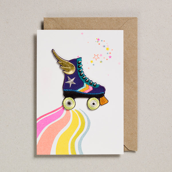 Iron on Patch Card - Rollerskate