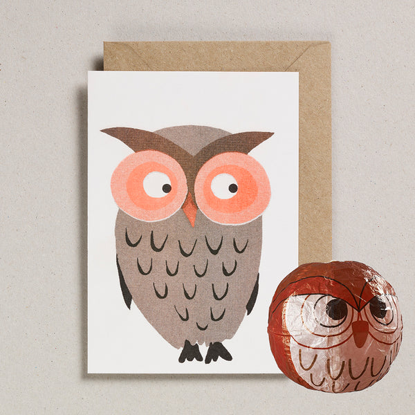Paper Balloon Card - Owl
